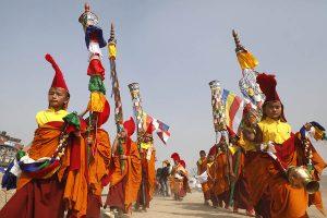 Buddhist celebrating Sonam Losar