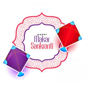 happy makar sankranti festival of kite background design