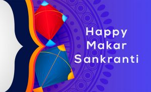indian makar sankranti festival of kite banner