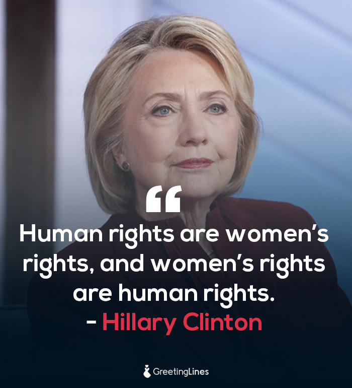 women's day quote by Hillary Clinton