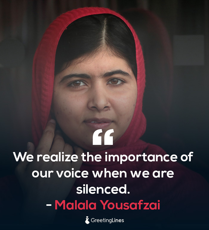 women's day quote by Malala Yousafzai