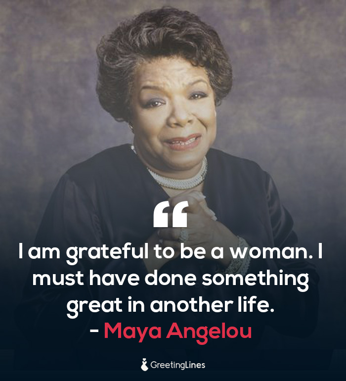 women's day quote by Maya Angelou
