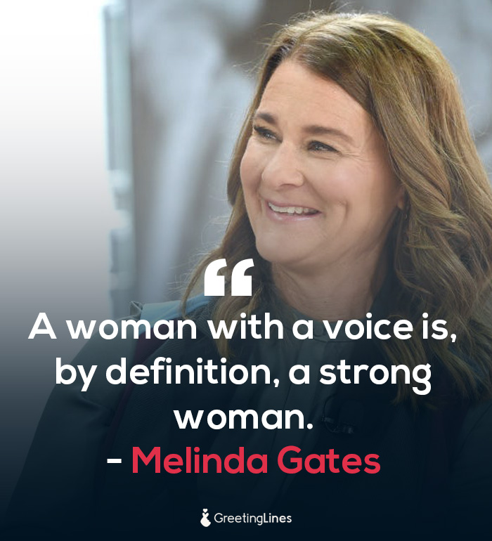women's day quote by Melinda Gate