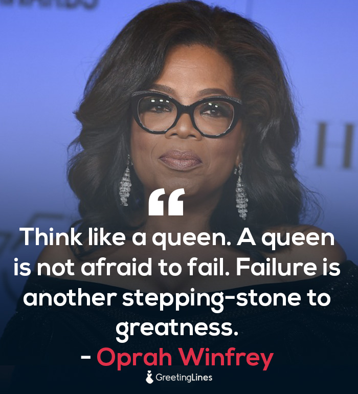 women's day quote by Oprah Winfrey