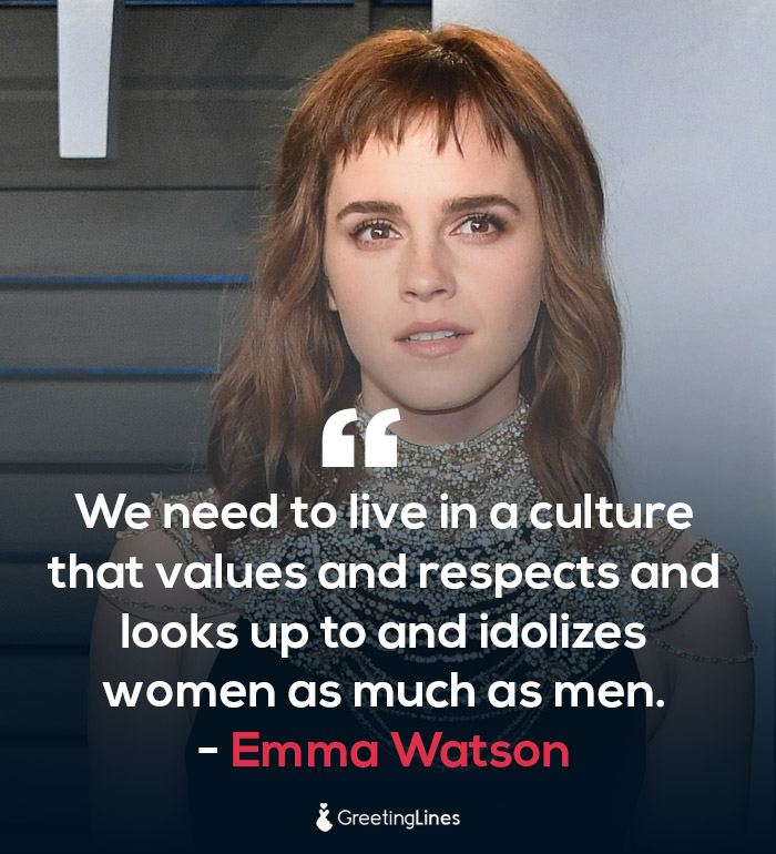 women's day quote by emma watson