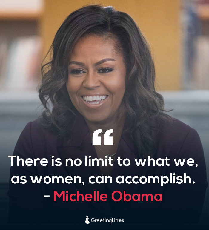 women's day quote by michelle obama
