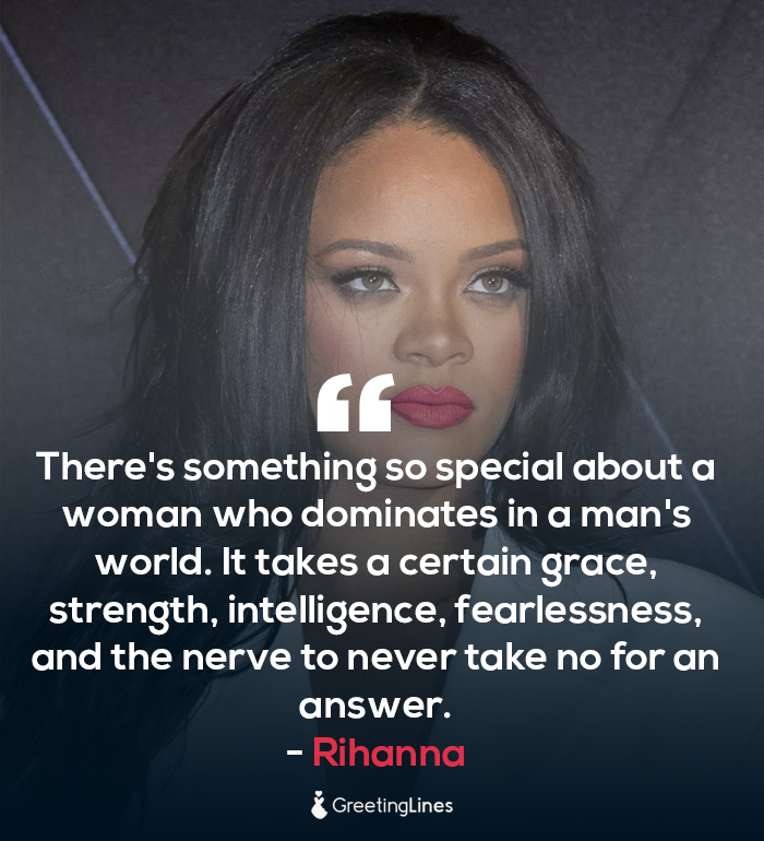 women's day quote by rihanna