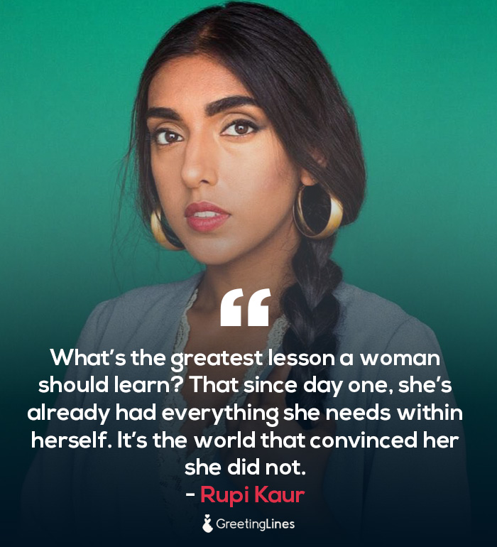 women's day quote by rupi kaur