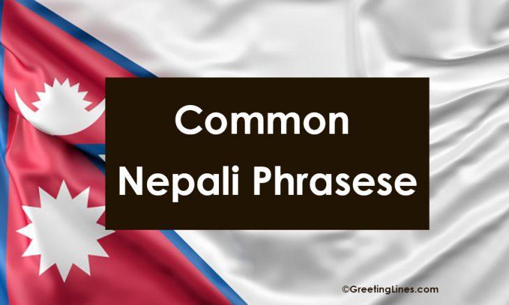 Common Nepali Phrases