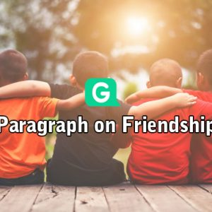 Paragraph on friendship